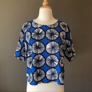 Marimmeko for Target Appelsiini Blue Print Top